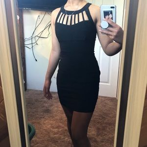 Cute and Simple Black Homecoming Dress